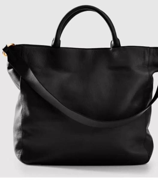 Peace Love Vegan Leather Shoulder Bag - Black
