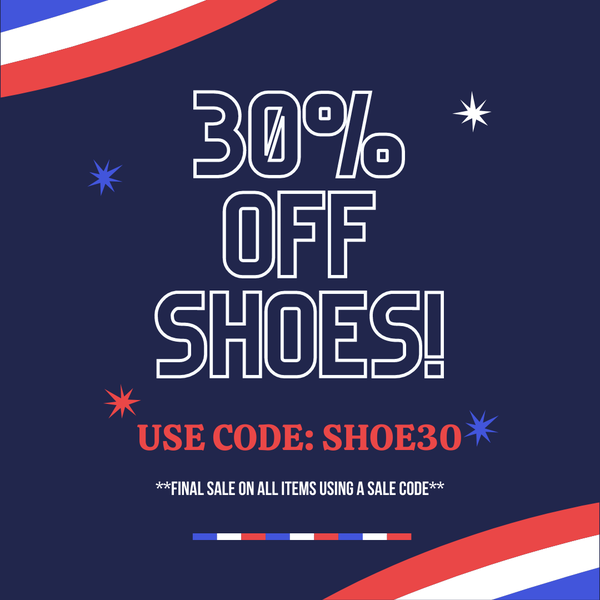 30% OFF ALL SHOES! CODE: SHOE30