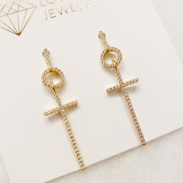 The London Cross Earrings