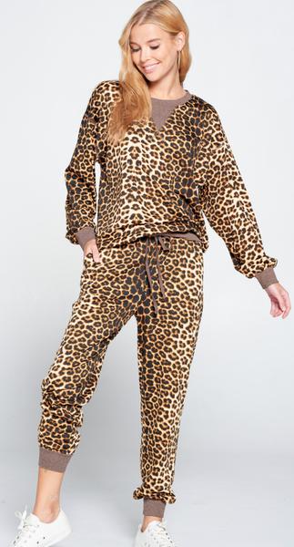 Cheetah Sisters Joggers