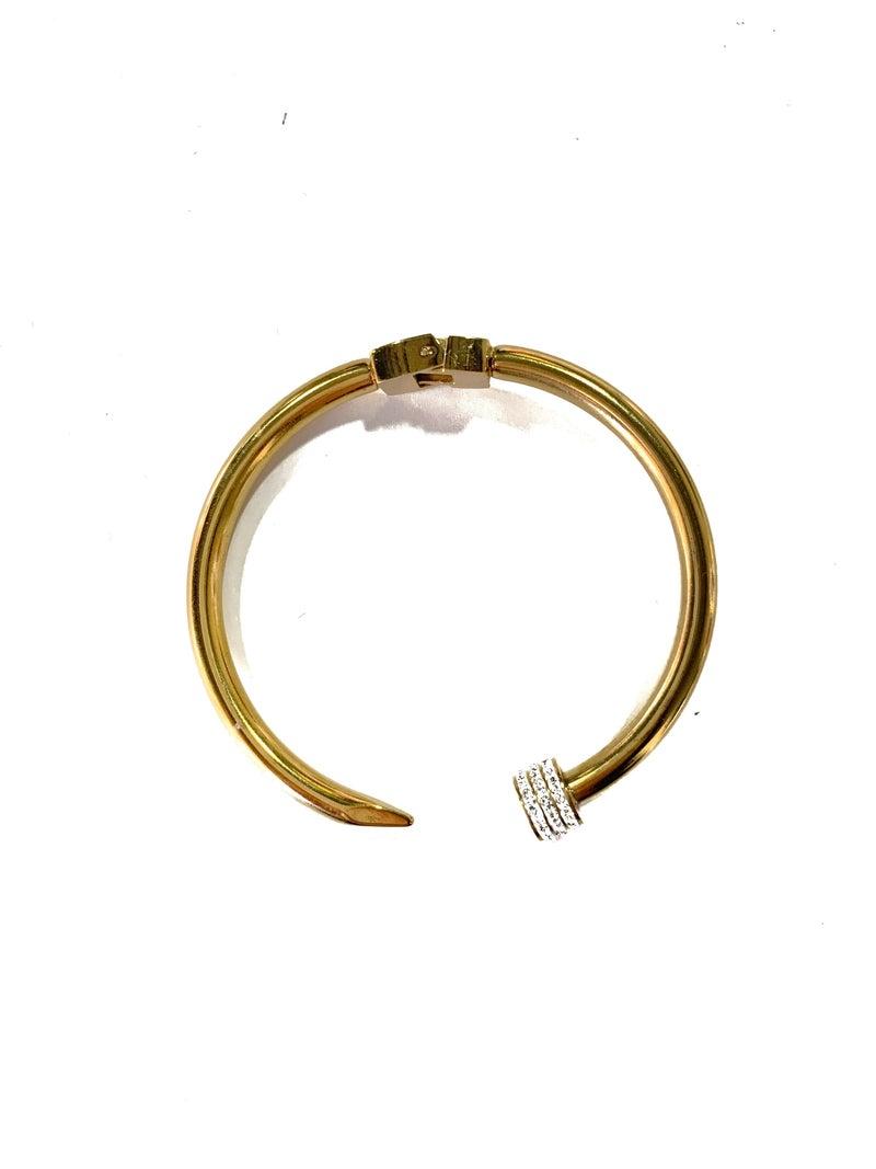 Gold Pave Nail Head Bracelet