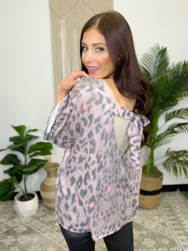Leopard On Leopard Sweater-2-colors