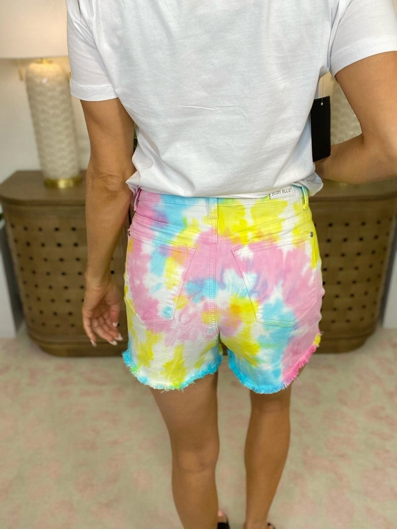 Judy Blue Fly In The Dye Denim Shorts