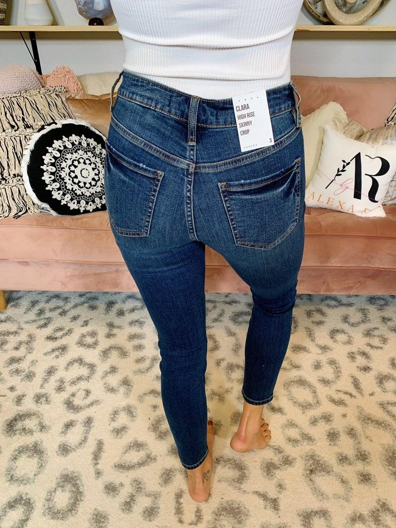 Eunina Worth The Wait High Rise Skinny Crop Jeans
