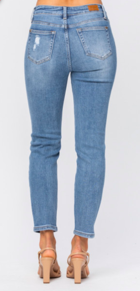 Judy Blue Roxanne Destroyed Relaxed Jeans