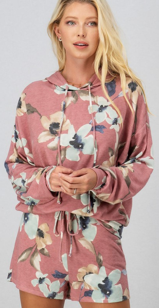 Falling For Floral Hoodie