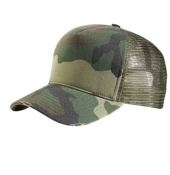 Camo Crazy Hat - Green