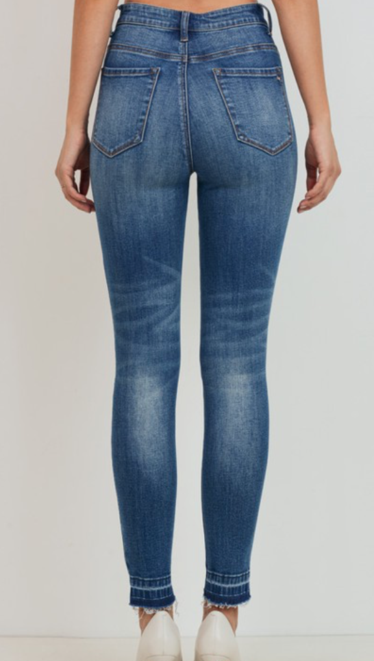 C'est Toi We Can Be Forever Distressed Skinny Jeans