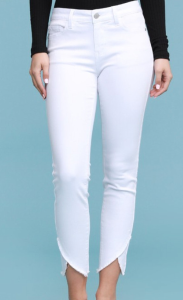 Judy Blue Make My Day Tulip Hem Skinny Jeans