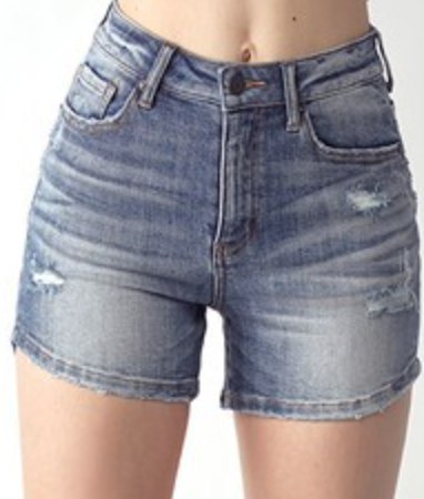 Risen True Blue Denim Shorts