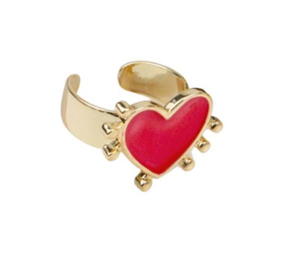 Melania Clara Milagros Ring Gold- Red