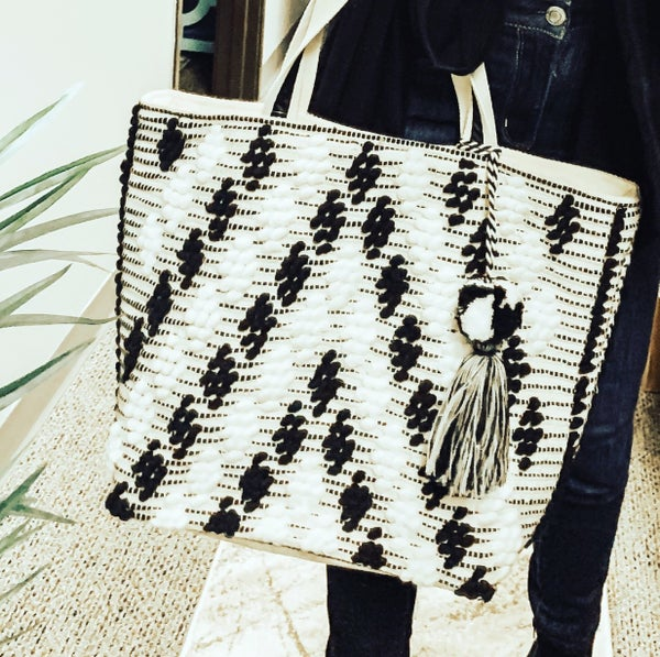 Crochet Patterned Tote Bag