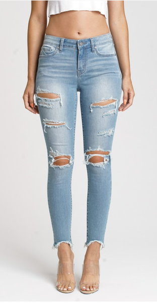 Eunina Jude Mid Rise Skinny Ankle Jeans
