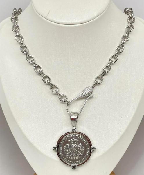 Melania Clara Fleur Necklace - Silver
