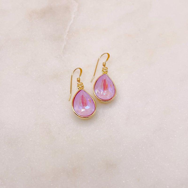 Love Poppy Swarovski Teardrop Earring - Gold