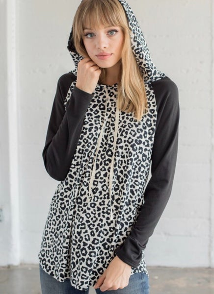 Wild For You Snow Leopard Hoodie