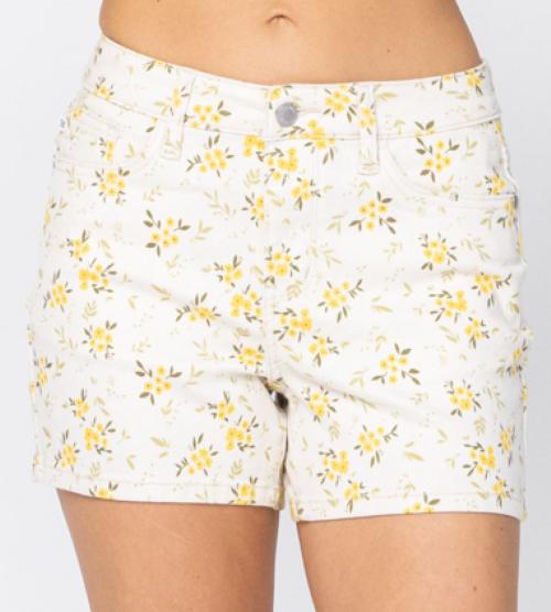 Judy Blue Crazy Daisy Denim Shorts
