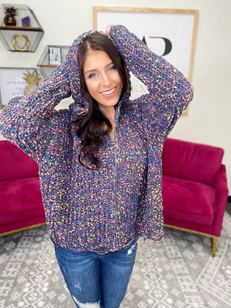 Noticing You Hooded Cardigan - 2 Colors!
