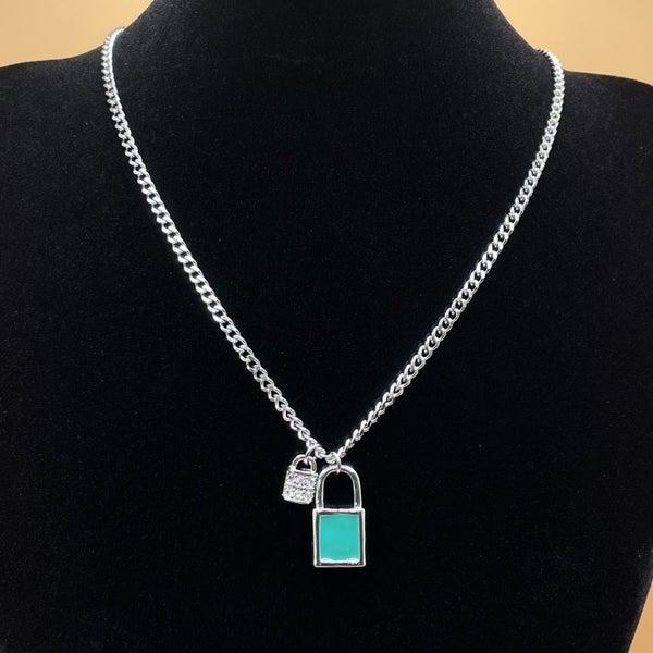 Melania Clara Lock Necklace Silver - 2 Colors!