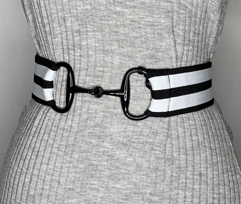 """2"""" Black Snaffle Elastic Belt - 3 Colors!"""