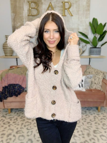 Holiday Inn Style Hooded Cardigan