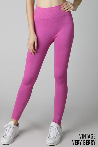 HOT PINK HIGH WAIST LEGGINGS
