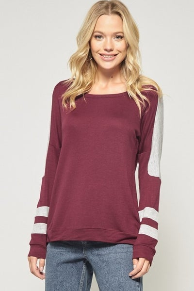 Color Block Detailed Knit Pullover