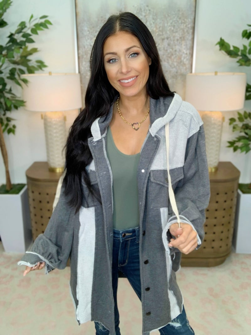 Measure Up Hooded Shacket - 3 Colors!