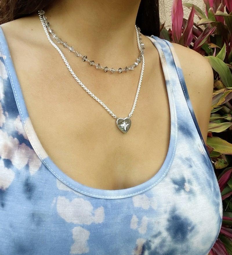 Star Studded Heart Necklace