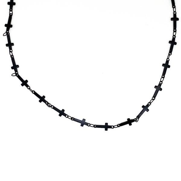 Keep The Faith Necklace - Black