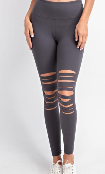 Tough Girl Leggings - Charcoal