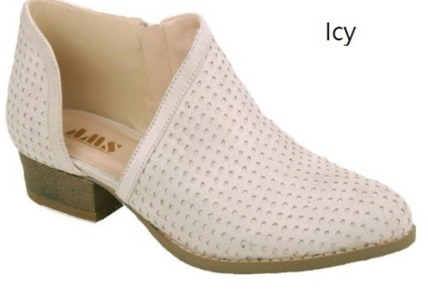 The Maria Cut Bootie - Ice