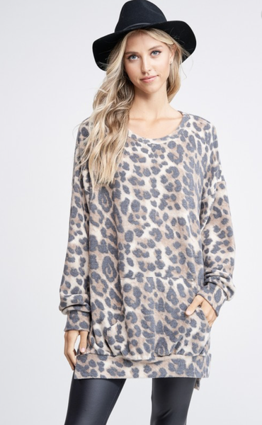 Cheetah Chick Oversize Sweater