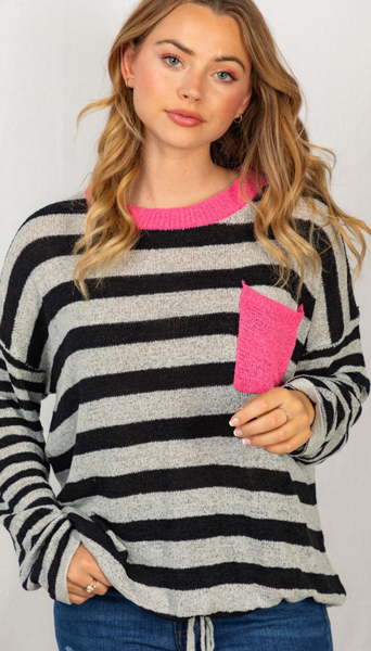 Grab Yourself Some Stripes Top - 2 Colors!