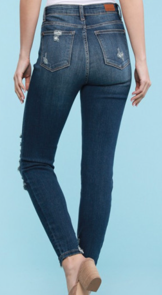 Judy Blue Addison High Rise Destroyed Skinny Jean