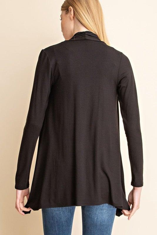 Jersey knit cardigan