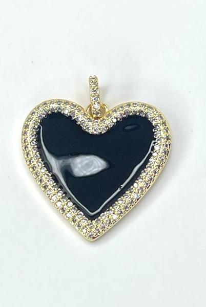 By Alexa Rae Enamel Heart Charm - Gold