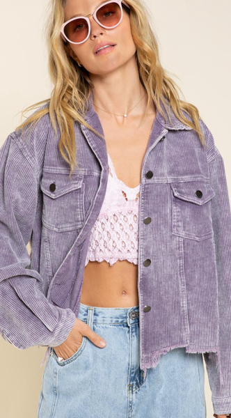 Vintage Corduroy Jacket - Lavender