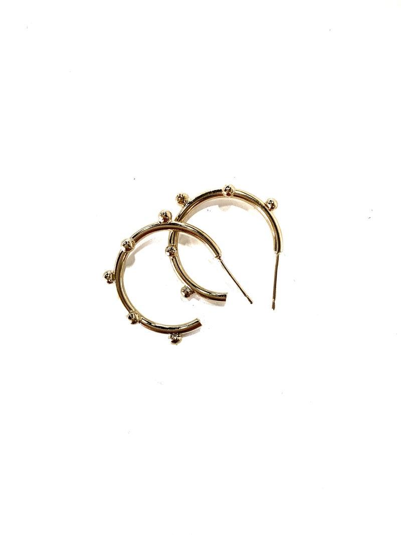 Treasure Jewels Mini Dot Hoop Earrings
