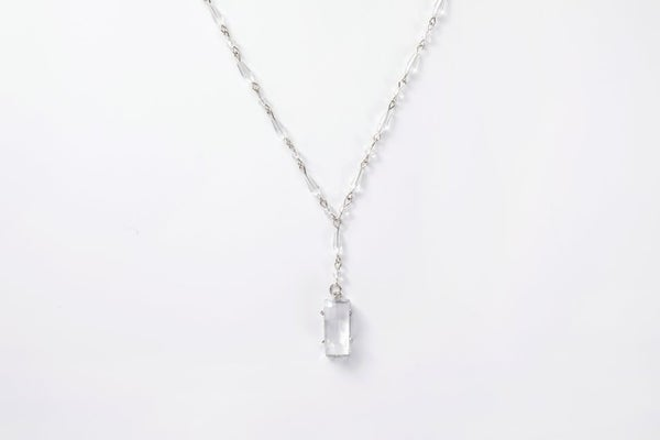 Melania Clara Clara Necklace Silver - Clear
