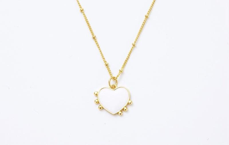 Melania Clara Milagros Heart Necklace Gold - 3 Colors!