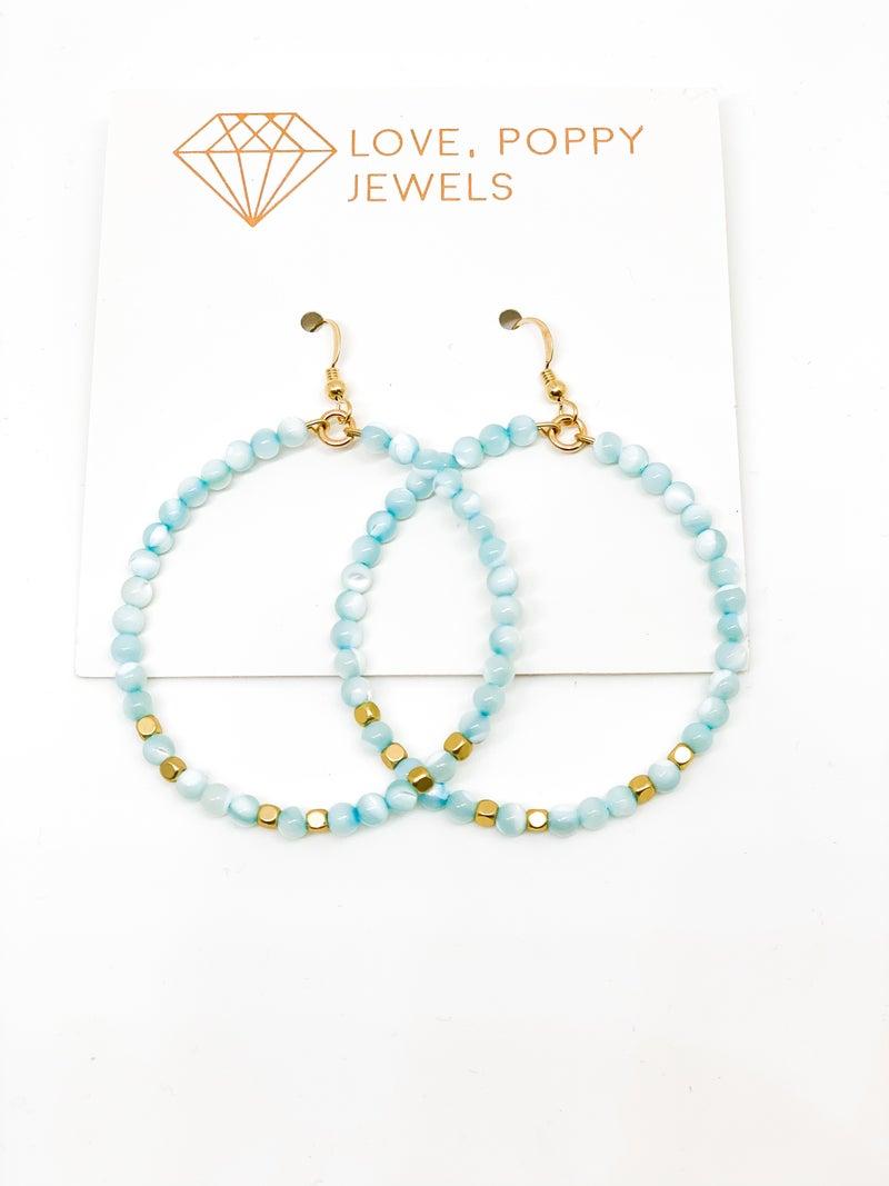 Beaded Beauty Hoop Earrings