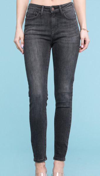 Judy Blue Girl Gang Grey High Waisted Skinny Jeans