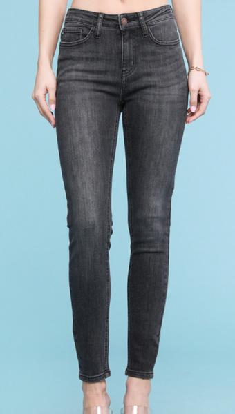 Judy Blue Girl Gang Grey High Waisted Skinny Jeans
