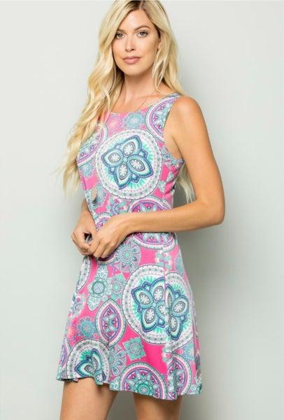 Happy Vibes Geometric Dress