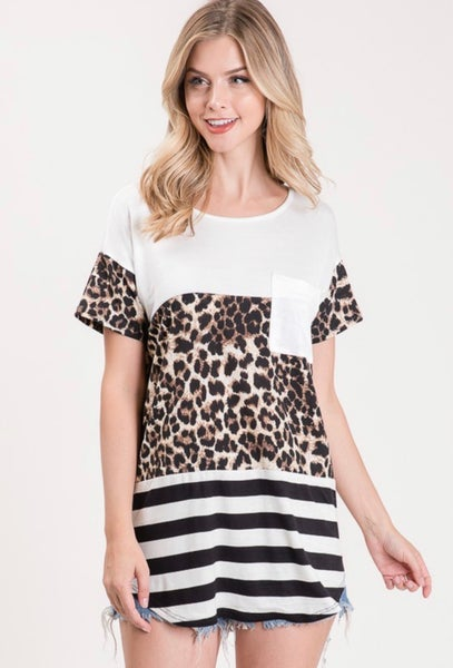 Wild Thing  Color Block Top