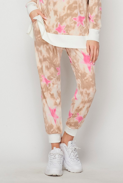 Just A Dream Pink Star Joggers