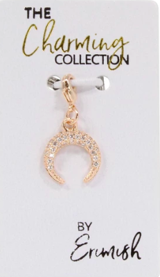 Erimish Crescent Moon Charm - Gold