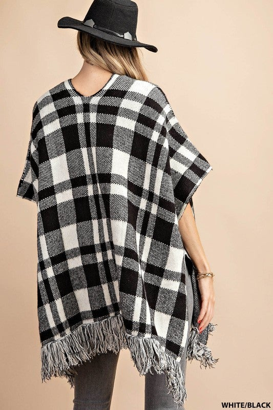 Glad In Plaid Pancho