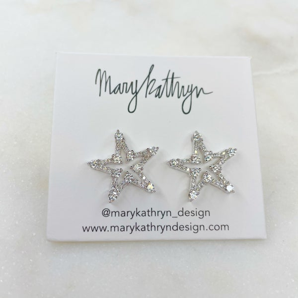 Mary Kathryn Starfish Earrings - Silver